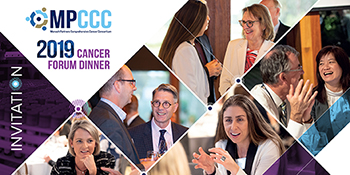 mpccc cancer forum dinner 2019