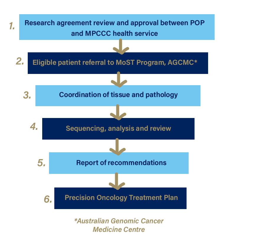 precision oncology affiliate health servcies diagram
